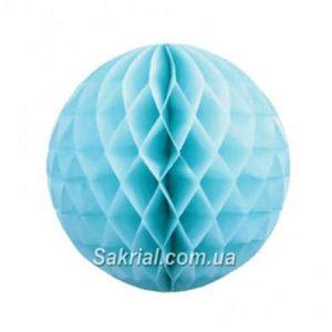 Бумажный шар-соты голубой 25см купить в Киеве