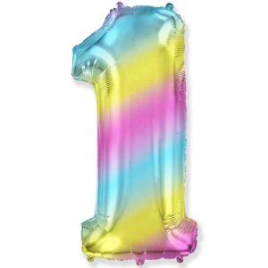 Шарик Цифра «1» градиент радуга в Киеве