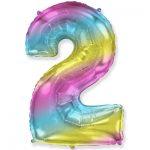 Шарик Цифра «2» градиент радуга купить в Киеве