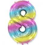 Шарик Цифра «8» градиент радуга