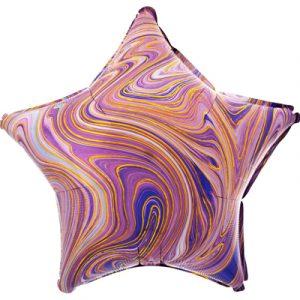 Шарик Звезда Агат Фиолетовый