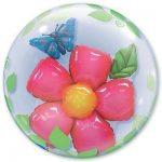 Шарик Bubble цветок и бабочка купить в Киеве