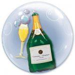 Шарик Bubble шампанское и бокал