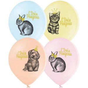 Гелиевый шар Домашние питомцы на день рождения