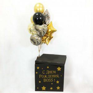 Коробка сюрприз с шарами для боса купить