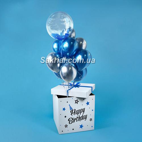 Коробка сюрприз с Баблс и шарами купить в Киеве