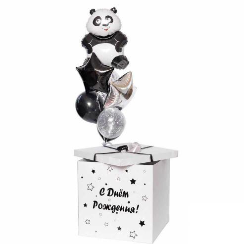 Коробка сюрприз с шарами и Пандой