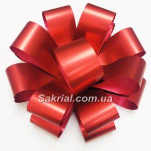 Красный бант для подарка 25см