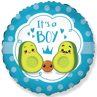 It's a boy авокадо фольгированный шар купить в Киеве