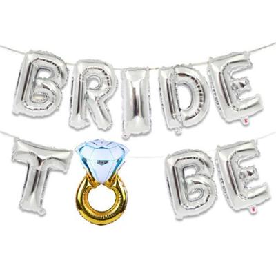 """Шары Буквы """"Bride to be"""" серебро купить на девичник"""