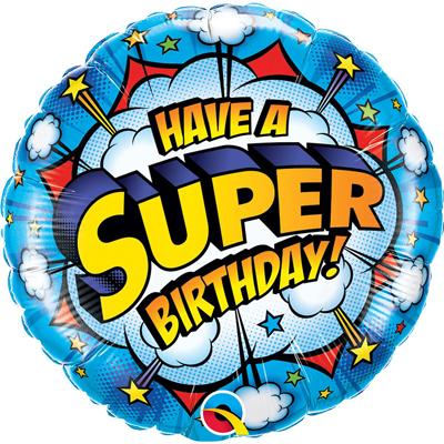 Шарик День рождения супергероя купить