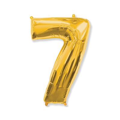Цифра «7» золото (надувается воздухом)