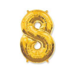 Цифра «8» золото (надувается воздухом)