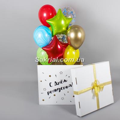 Коробка сюрприз с шариками купить на Оболони