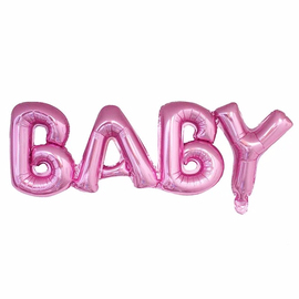 Шары Буквы BABY розовые купить в Киеве