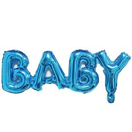 Шары Буквы BABY синие купить в Киеве
