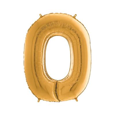 Цифра 0 золото шарик купить в Киеве