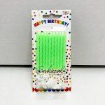 """Свечи для торта """"Зеленые с подставками"""""""