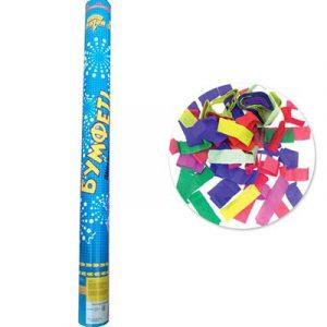 Хлопушка разноцветное конфетти бум 60см