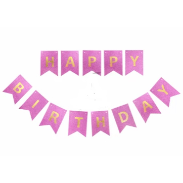 """Гирлянда """"Happy Birthday"""" Сиреневая глиттер купить в Киеве"""