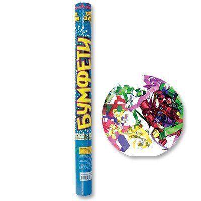 Хлопушка разноцветное конфетти фольга 60см