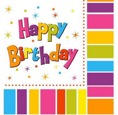 Салфетки Happy Birthday для праздника