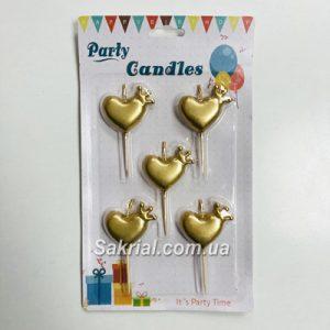Купить Свечи сердца с короной в Киеве