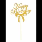 Топпер Happy Birthday золотой
