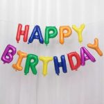 Шары Буквы HAPPY BIRTHDAY разноцветные
