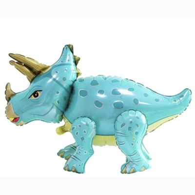 Шар 3D Динозавр бирюзовый (воздух)