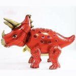 Шар 3D Динозавр красный (воздух)