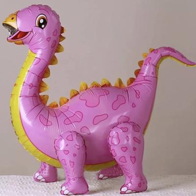 Шар 3D Динозавр розовый (воздух)