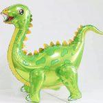 Шар 3D Динозавр зеленый (воздух)