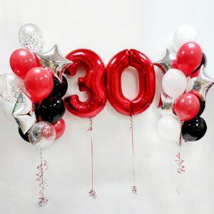 Готовое украшение шарами на 30 лет