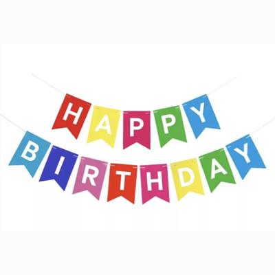 Гирлянда «Happy Birthday» разноцветная