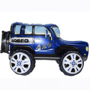Шар игрушка 3D Джип синий (воздух)