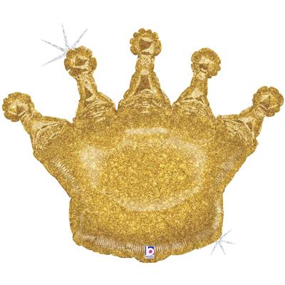 Шарик Корона Золотая голографическая