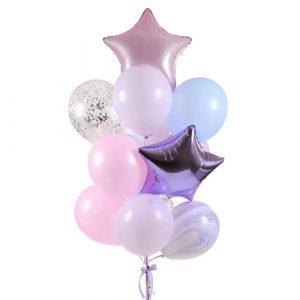 Фонтан шаров в нежных цветах