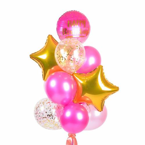 Красивый фонтан из шариков на праздник