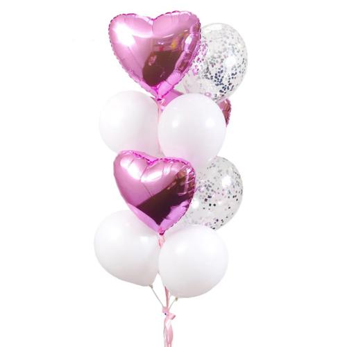 Фонтан розово белых шаров