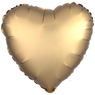 Сердце Сатин «Золото»