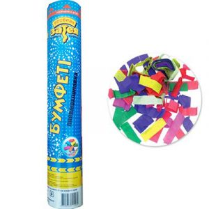 Хлопушка разноцветное конфетти бум 30см