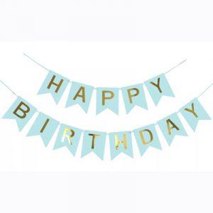 Гирлянда «Happy Birthday» Мятная