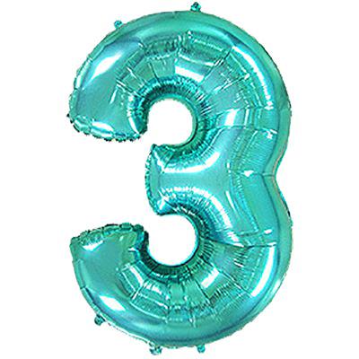 Фольгированная цифра «2» Тиффани