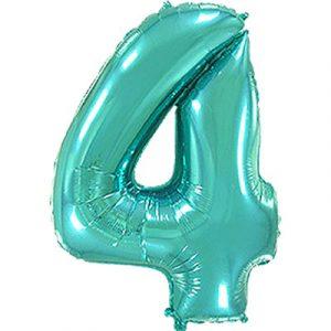 Фольгированная цифра «4» Тиффани
