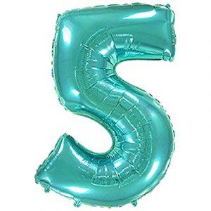 Фольгированная цифра «5» Тиффани