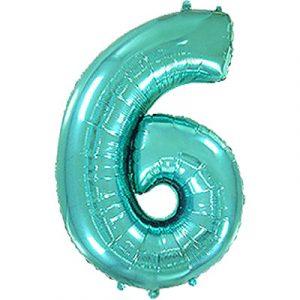 Фольгированная цифра «6» Тиффани