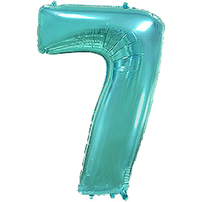 Фольгированная цифра «7» Тиффани