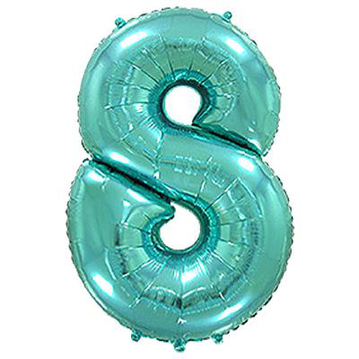 Фольгированная цифра «8» Тиффани
