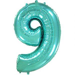 Фольгированная цифра «9» Тиффани